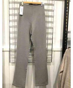 elastic waist jean silver