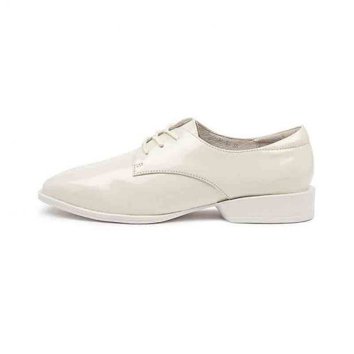 White patent leather