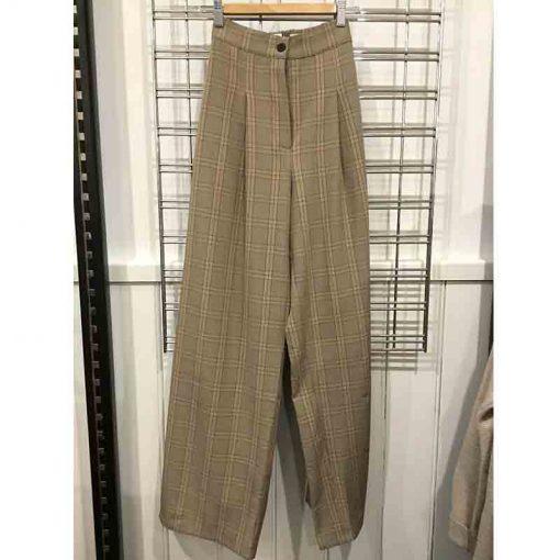 Wide let pants - check