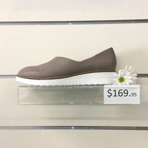 Ash slip on shoe with white sole