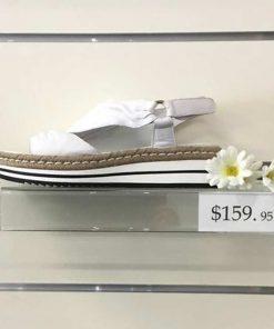White sandal with white trim
