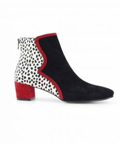 Ankle length boot multi colour
