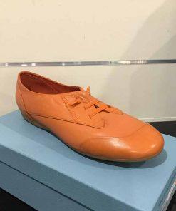 Orange casual shoe
