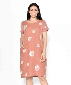 Circle print dress pink